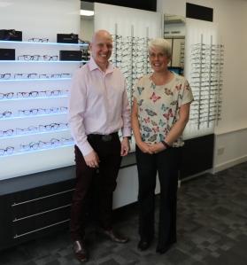 Optometrists Alex and Sarah Gage